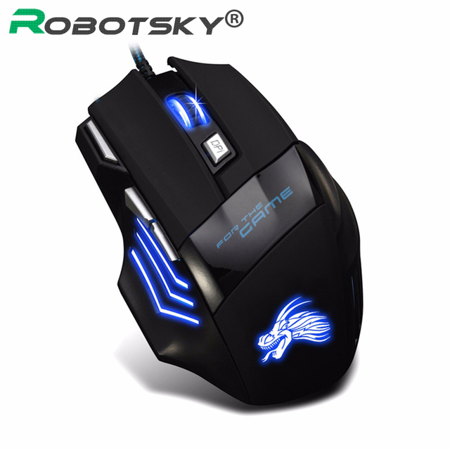 New H7 Gaming Mouse Wired 7 Buttons 5500 DPI Esports RGB Backlit Slient Mouse Professional Optical Office Mouse for PC Laptop