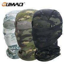 Cagoule de Camouflage Multicam pour hommes, masque foulard complet, randonnée, cyclisme, chasse, vélo de l'armée, couvre-chef militaire, casquette tactique Airsoft