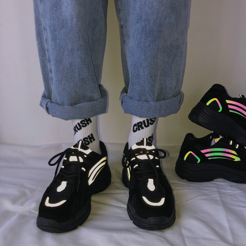 CINESSD Mesh Reflective Casual Sneakers Shoes Woman 2020 Fashion Platform Sneakers Women Vulcanize Shoes Women Chaussures Femme