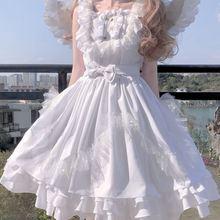 Женское платье в стиле «лолита» anbenser белое кружевное с изображением