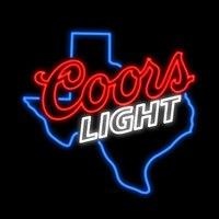 COORS LIGHT Texas Map Neon Sign Custom Handmade Real Glass Tube Beer Bar KTV Store Club Decoration Display Neon Signs 24X24
