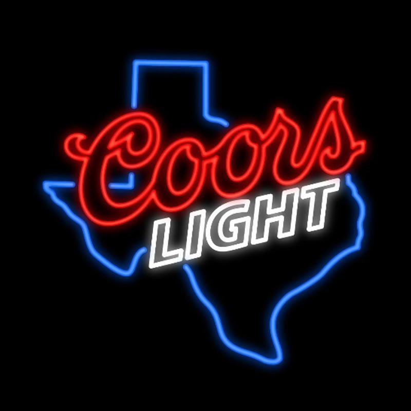 COORS светильник, Техасская карта, неоновая вывеска, ручная работа, Настоящая стеклянная трубка, пивной бар, KTV, магазин, клуб, украшение, дисплей, неоновые вывески 24 X 24