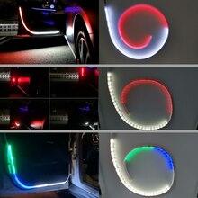 2個ストロボ点滅車のドアライトストリップ自動オープニング警告装飾流れるランプ安全車のスタイルアクセサリー12v