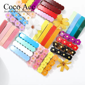 60+COLOR wholesale  candy color bar flower fancy hair clips grips accessories for kids girls children