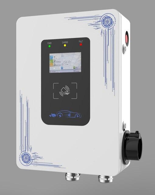 7KW/11KW/22KW AC type 2 ev chargeur pour voiture électrique