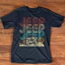 Camiseta vintage jipes retro 70s pôr-do-sol fora da estrada