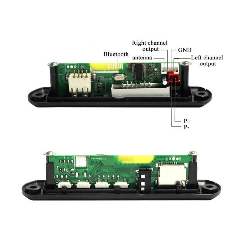 لاسلكي استقبال FM 5 فولت 12 فولت سيارة مشغل MP3 فك مجلس وحدة صوت راديو Wma FM TF USB 3.5 مللي متر AUX سماعات بلوتوث مجلس