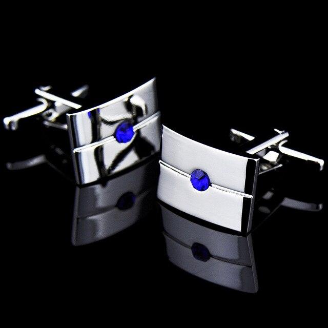 French Middle Blue Crystal Zircon Cufflinks 5