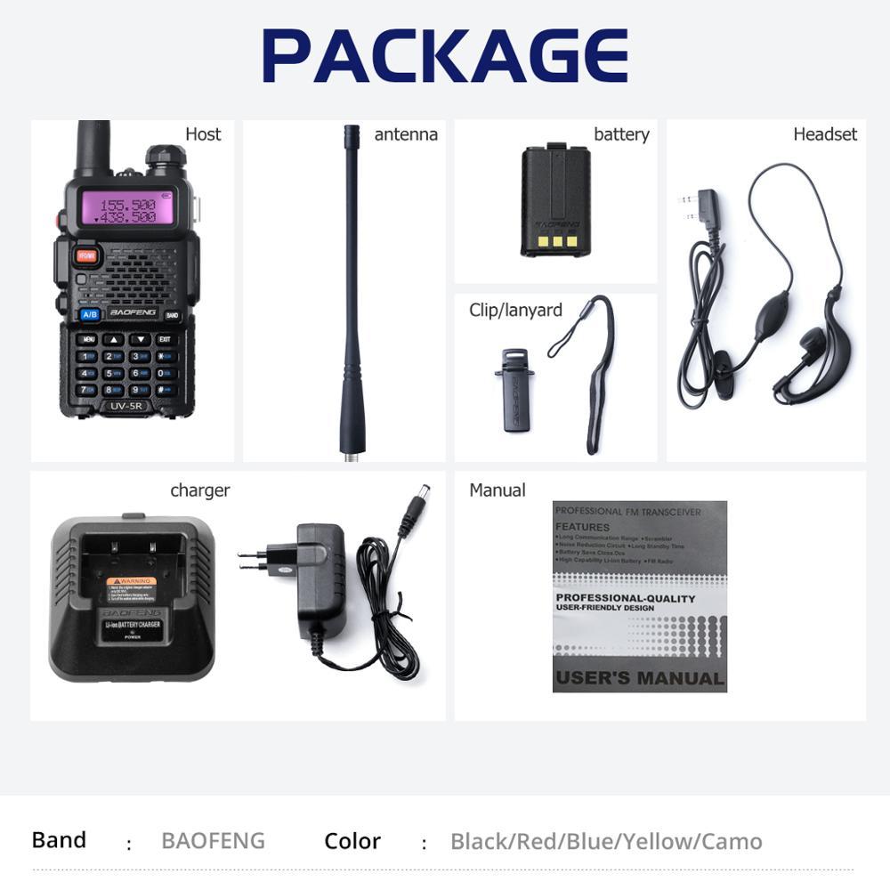 Baofeng UV-5R Walkie Talkie Professional CB Radio Station Baofeng UV 5R Transceiver 5W VHF UHF Portable UV5R Hunting Ham Radio