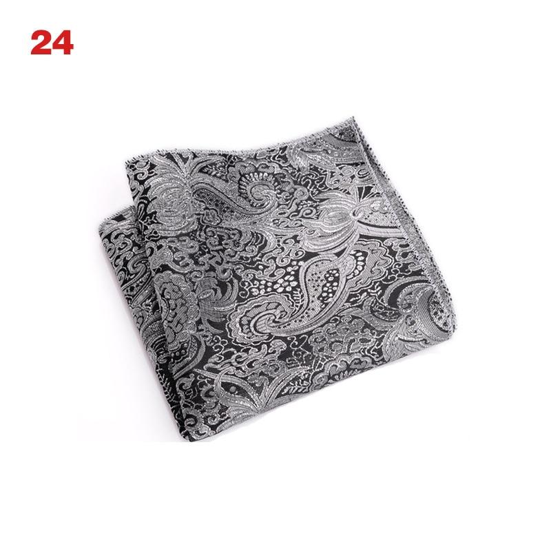 Vintage Men British Design Floral Print Pocket Square Handkerchief Chest Towel Suit Accessories S55