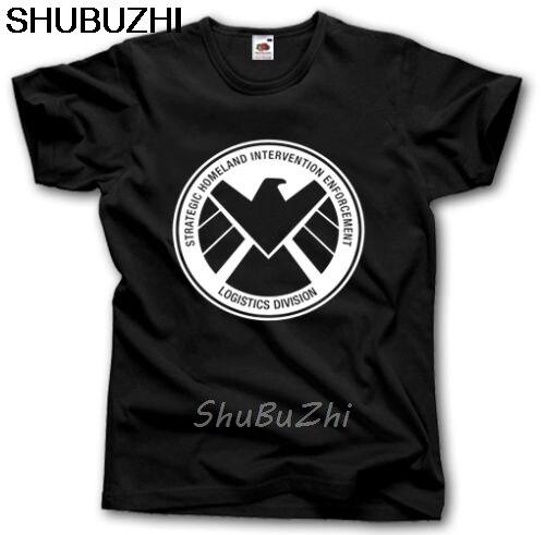 Los agentes de S H que E L D Camiseta S - XXXL superhéroe escudo TV SERIES LOGO COULSON hombres algodón camisetas verano marca sbz3340
