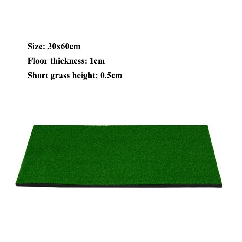 Portable Golf Hitting Mat Indoor Outdoor Golf Mat Rubber Grassroots Golf Chipping Driving Cutting Mat