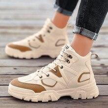 גברים נעליים יומיומיות תחרה עד נעלי גברים לנשימה הליכה סניקרס Tenis Feminino Zapatos מגפי מרטין בציר מגפי נעליים נוסע