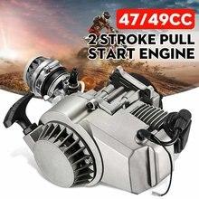 49cc 2 temps moto tirer démarrage moteur moteur Transmission moteur filtre à Air Mini poche saleté Pit Bike ATV Quad 4 roues