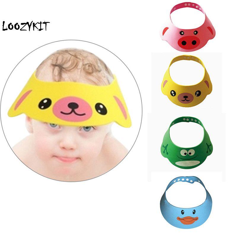 CYSINCOS Cute Baby Shampoo Hat Adjustable Toddler Kids Shampoo Bathing Shower Cap Wash Hair Visor Cap For Baby Care New Arrival