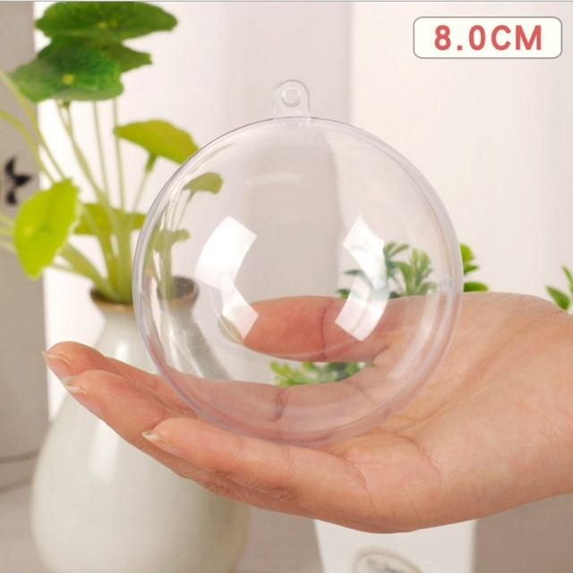 5Pcs/Set Clear Plastic Bath Bomb Mold Mould Round Heart Egg Shape Ball Sphere Bath Bomb Accessories Fillable Ball DIY Bath Tool 4