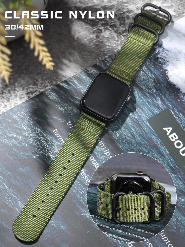 For Apple Watch Band Series 5 4 44mm 40mm Nylon Sport Loop Bracelet strap for iwatch