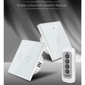 Image 5 - Сенсорный выключатель, светильник, поддержка WIFI, подключение к сети, мобильный телефон, приложение, умное управление, RF беспроводной пульт дистанционного управления, AC110V 220V