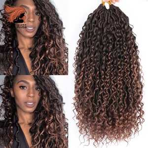 Hair-Extensions Braids Crochet Afro Curly Goddess MUSES Faux-Locs Black Bohemian Synthetic