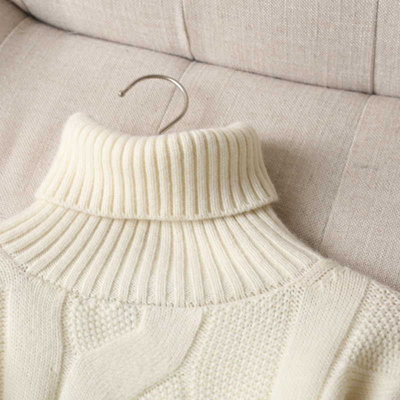 Withered Winter Sweaters Women England Office Lady Fashion Vintage Twisted flower Loose Turtleneck Sweaters Women Pullovers Tops