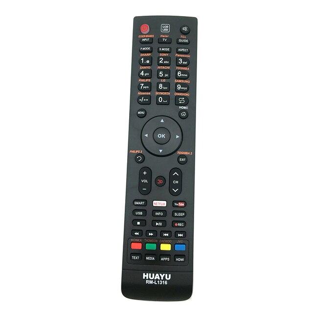 Controle remoto universal de smart tv, controle para mitsonic mitsun mistério master g onida reconneect rolsen rca pars bbk bgh