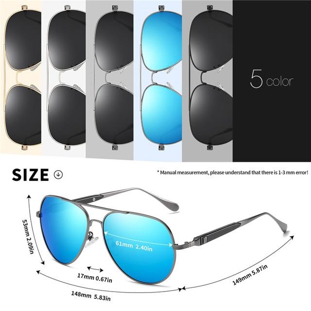 AOFLY BRAND DESIGN Pilot Sunglasses Men Polarized Metal Frame Anti-Glare Mirror Lens 2020 Fashion Fishing Sun Glasses Male UV400 4