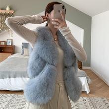 Жилет женский из натурального меха утепленный роскошный брендовый