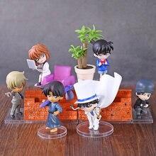 Detective Conan Desktop Figuur Serie Edogawa Konan Haibara Ai Hattori Heiji Kaitou Kiddo Akai Shuuichi Furuya Rei 6 Stks/set