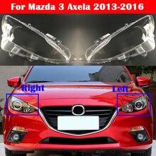 Nieuwe Koplamp Case Voor Mazda 3 Axela 2013 2016 Auto Koplamp Cover Glas Lamp Caps Lampenkap Auto Hoofd licht Lens Shell