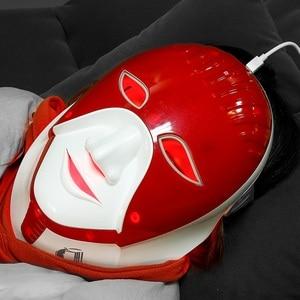 Image 5 - Foreverlily قابلة للشحن 7 ألوان Led قناع للعناية بالبشرة Led قناع الوجه مع الرقبة مصر نمط الفوتون علاج للوجه الجمال