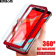 KINBOM 360 Full Protection Cover Case For IPhone X XR XS MAX iphone 6s 6 7 8 plus Protective With Tempered Glass