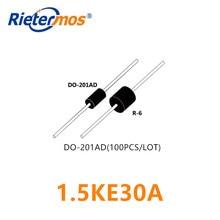 100 قطعة 1.5KE30A 1.5KE30CA DO 201AD عالية الجودة