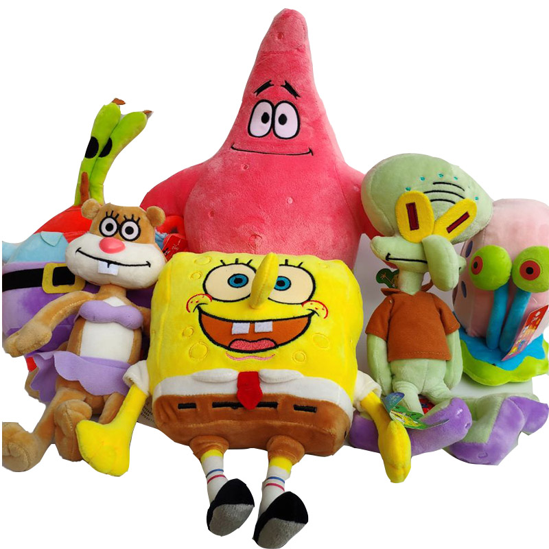 SpongeBob SquarePants Patrick Star Sandy Gary The Snail Squidward Tentacles Eugene H. Krabs