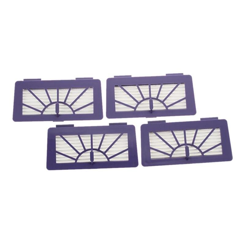 4Pcs Hepa Filters For Neato XV-15, XV-11, XV-12, XV-25, XV-21 And Vorwerk VR100