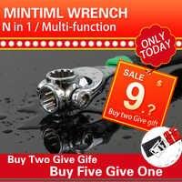 Buchse drehmoment wrench set magie grip tool universal Multifunktionale hex spanner multitools bicicleta werkzeuge 1/4 5/16 3/8 7/16 1/2