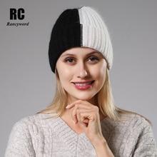 [Rancyword] Winter Hats For Women Wool Knitted Angora Hat Beanies Female Warm Ra