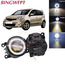 2x High power H11 LED Fog Lamps Angel Eye light with Glass len 12V For Nissan Note E11 MPV 2006 2007 2008 2009 2010 2011 2012 13