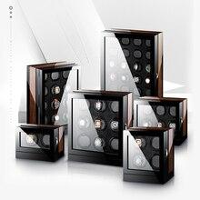 M & Q יוקרה uhrenbeweger אוטומטי סיבובים עץ בטוח mabuchi מנוע led המותח תיבת שעון המותח