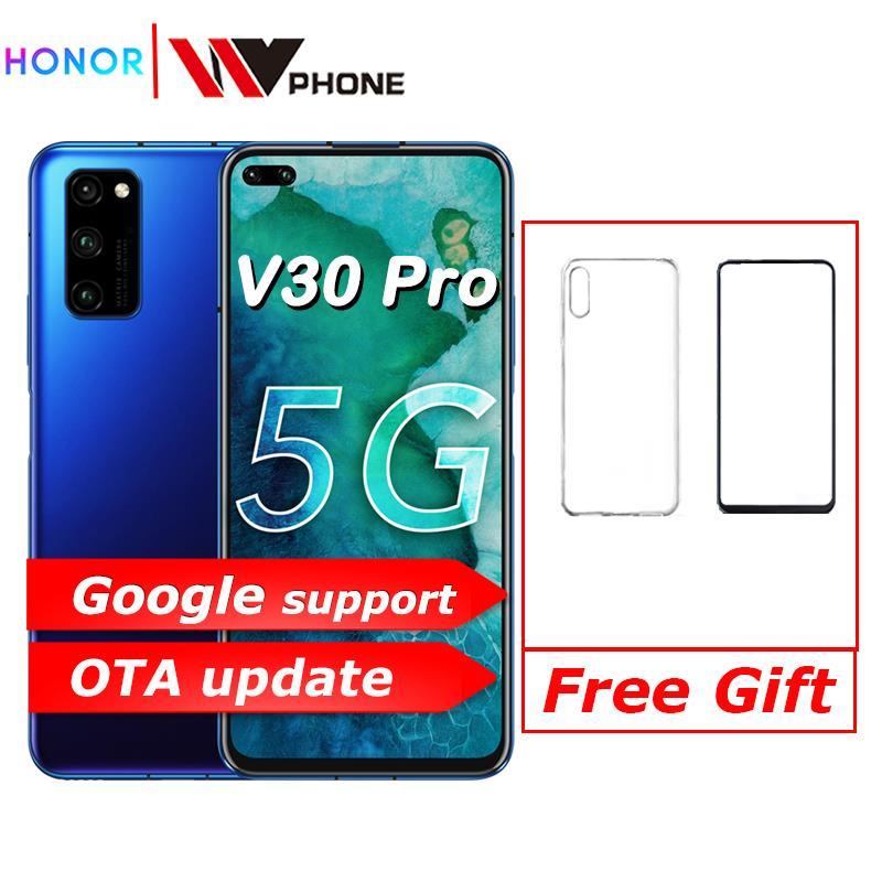 Original Honor V30 Pro Kirin990 Octa core 5G Smartphone 6GB 8GB 128GB 40mp Triple Kamera 40W Aufzurüsten Telefon NFC Google spielen