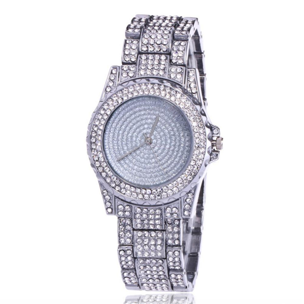 Luxury diamond-studded steel band watch high end fashion Couple watches quartz watch factory wholesale HIP HOP Wrist Watches
