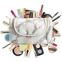 Marble Patterned Cosmetics Storage Bag