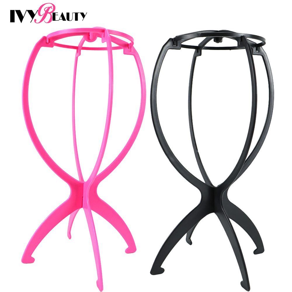 Upgrade Wig Drying Stand Multi-Purpose Use Hat Wig  Hair Head Stand Travel Friendly Foldable Flexible Plastic Wig Holder 1Pcs