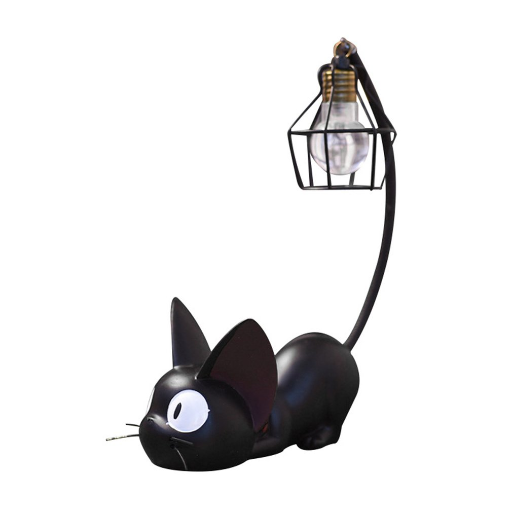 Creative Magic Jiji Cat Night Light Home Resin Crafts Ornaments Home Desktop Decoration Ornaments