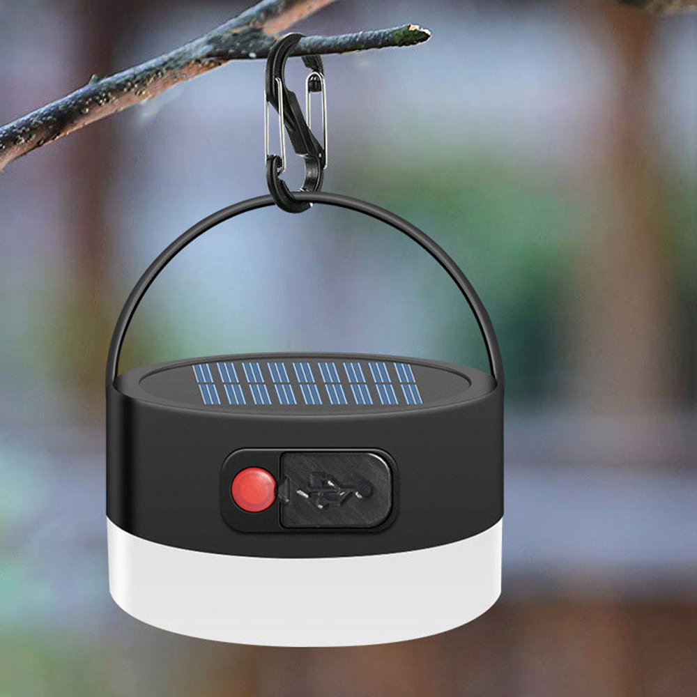 Solar Powered Lantern Camping Light LED Mini Hanging Lamp for Tent Lamp Solar USB Rechargeable Waterproof Tent Light 3