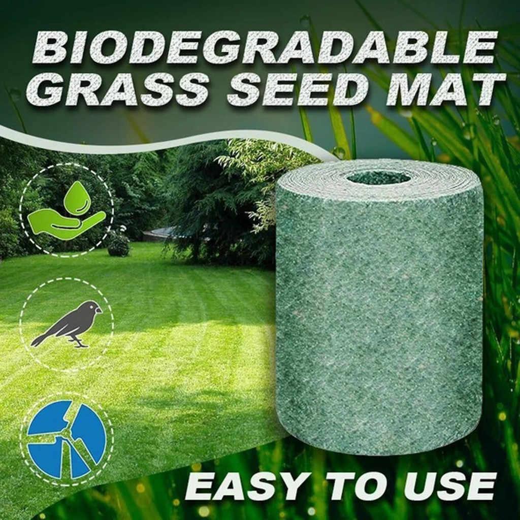 القابلة للتحلل العشب البذور حصيرة 20 300 سنتيمتر العشب البذور حصيرة الأسمدة حديقة نزهة البستنة العشب زراعة حصيرة العشب الصناعي Aliexpress