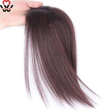 MANWEI Natural Invisibility natural of True Hair Top Cover Brown and Black Color  Bangs Clip In parts