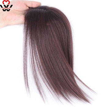 MANWEI Natural Invisibility natural of True Hair Top Cover Brown and Black Color Bangs Clip In Hair parts