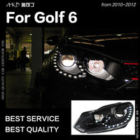 AKD Car Styling for VW Golf 6 LED Headlight 2009 2012 R20 Design Golf LED DRL Hid Head Lamp Angel Eye Bi Xenon Beam Accessories