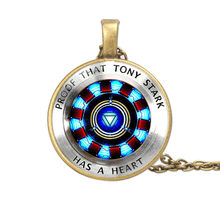 Iron Man Tony Stark Cosplay Ketting Avengers Endgame Cosplay Accessoires Iron Man Hart Hanger Ketting(China)