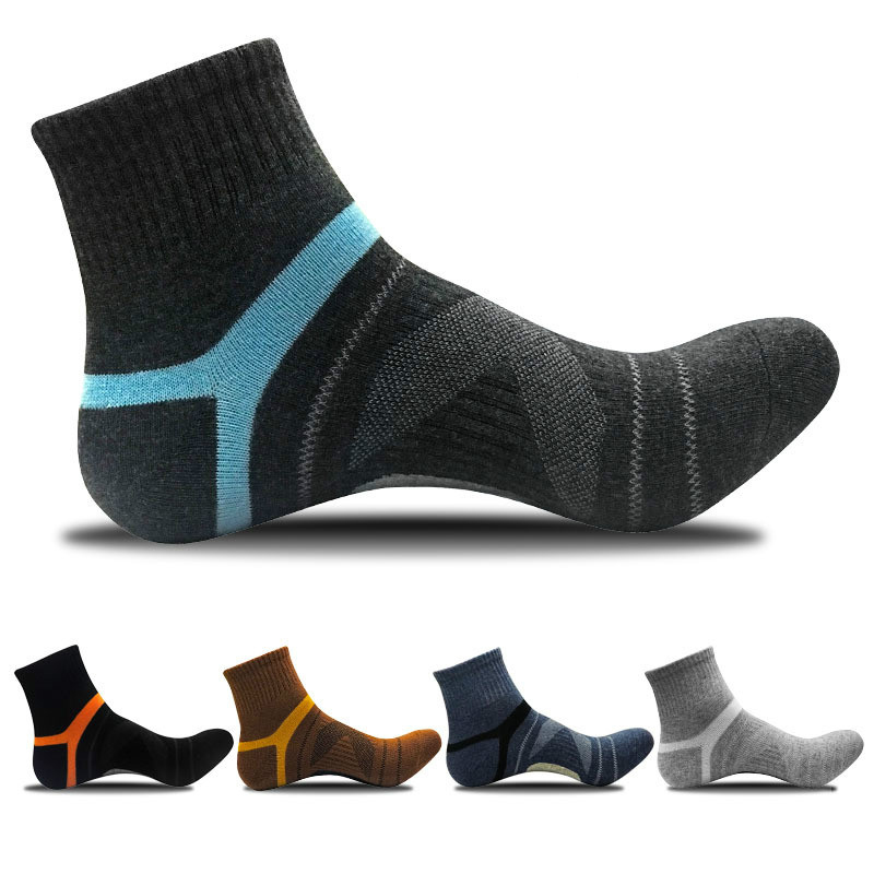 2020Men's Compression Socks Men Merino Wool Black Ankle Cotton Socks Herren Socken Basketball Sports Compression Sock For Man